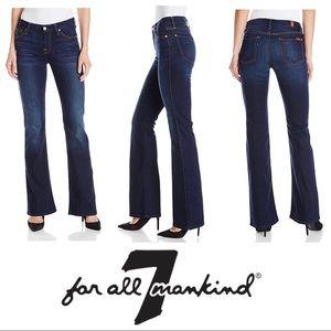 7FAM Mid Rise Kimmie Bootcut Jeans dark wash sz 31